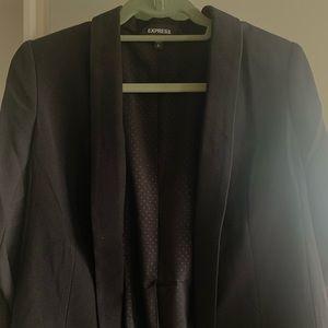Ruched sleeve never worn Black Express Blazer